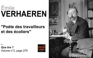 Émile Verhaeren, poète des travailleurs et des écoliers